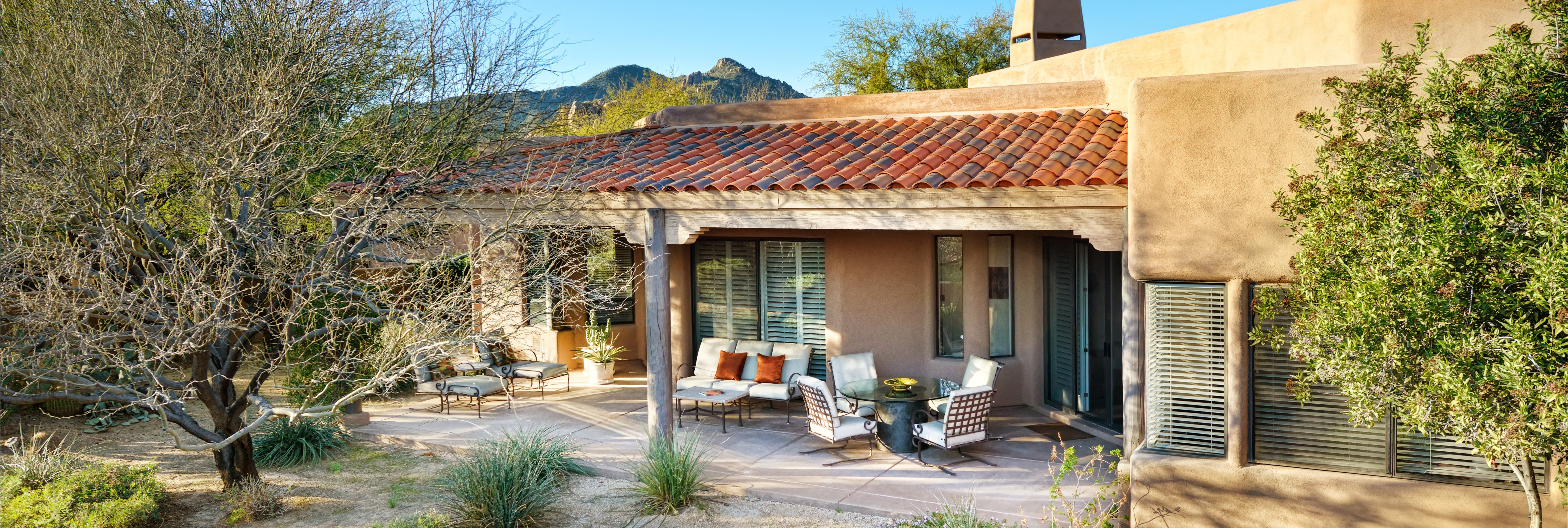 Relax and enjoy the Sonoran Desert from your private patio.