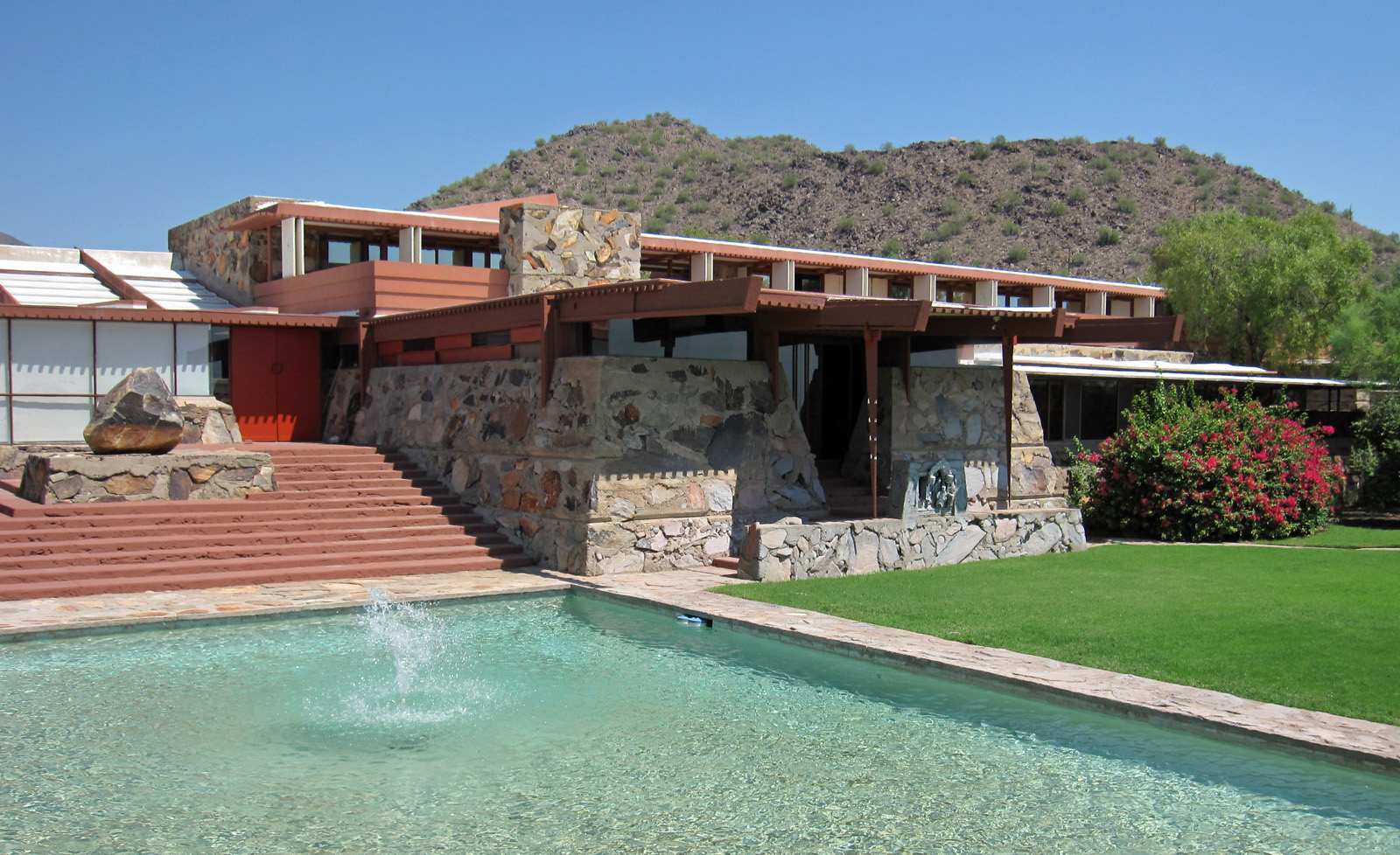 Taliesin West is a National Historic Landmark built