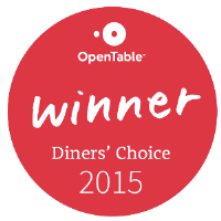 Open Table Diner's Choice Winner 2015