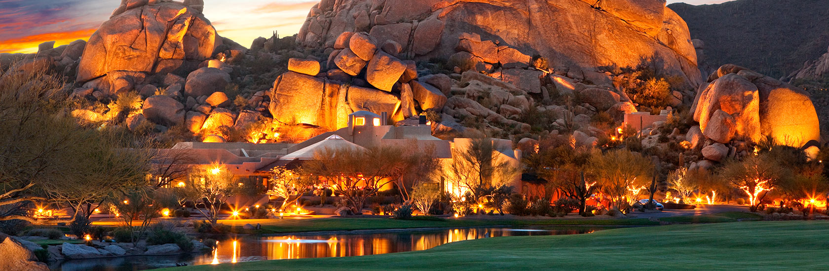 The Boulders at sunset.