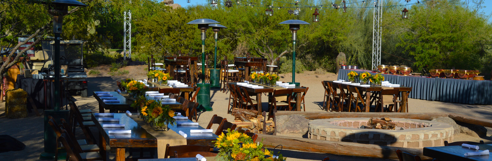 Corporate events - outside dining