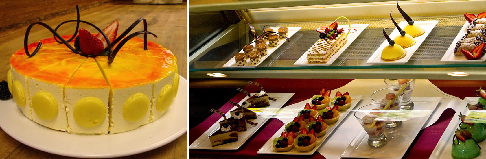 Selection of delectable desserts