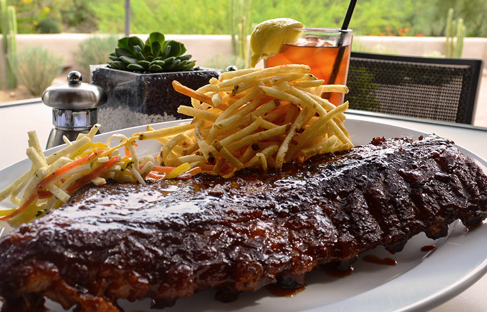 Palo Verde ribs and fries dish